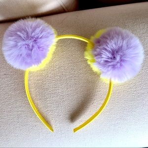 Other - Fluffy Yellow and Lavender Pom Headband 🌟